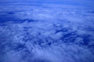 Haute vue de nuages d'altitude, de haute