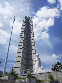 La havane, cuba - 06 août 2019 mémorial jose marti à la havane, cuba