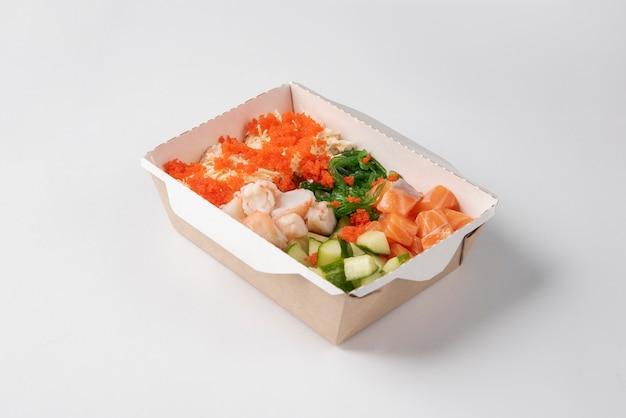 Hawaiian ahi salmon poke bowl