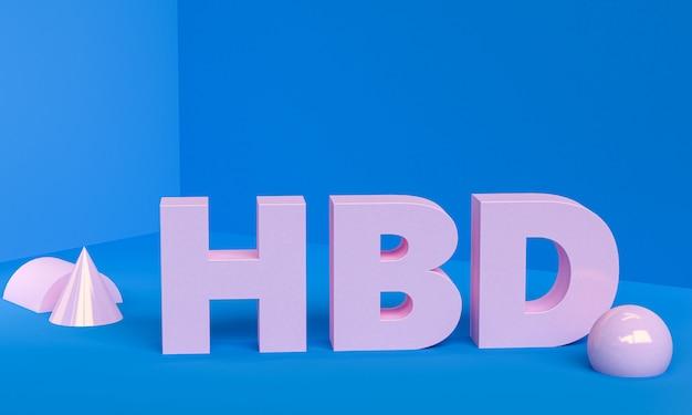 Hbd joyeux anniversaire carte de voeux minimaliste