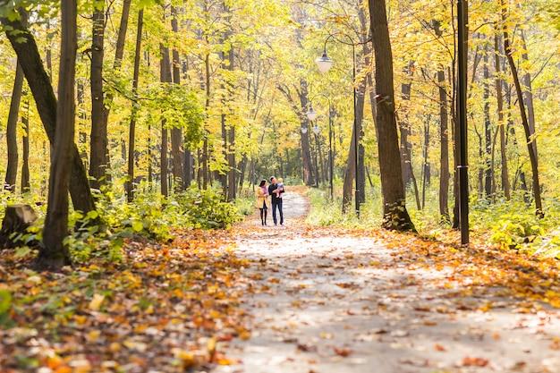 Héhé en plein air à l'automne
