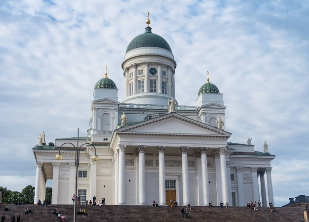 Helsinki, finlande - 20 aot 2017 : cathédrale d'helsinki, cathédrale luthérienne évangélique finlandaise