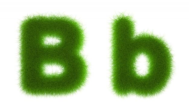 Herbe alphabet eco polices isolé sur fond blanc rendu 3d