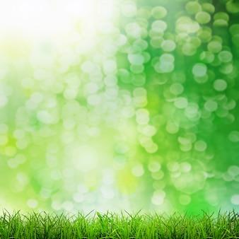 Herbe verte sur les fonds verts