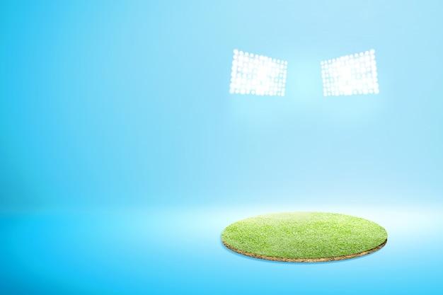 Herbe verte avec des projecteurs