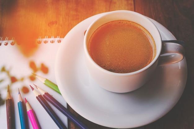 Heure du café sur la table