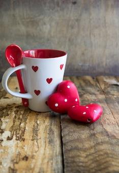 Heure du thé pour le concept de carte de saint valentin