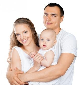 Heureuse jeune famille