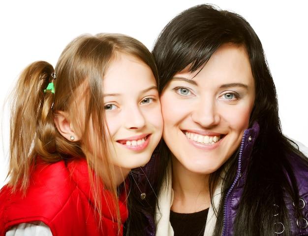 Heureuse mère et sa fille