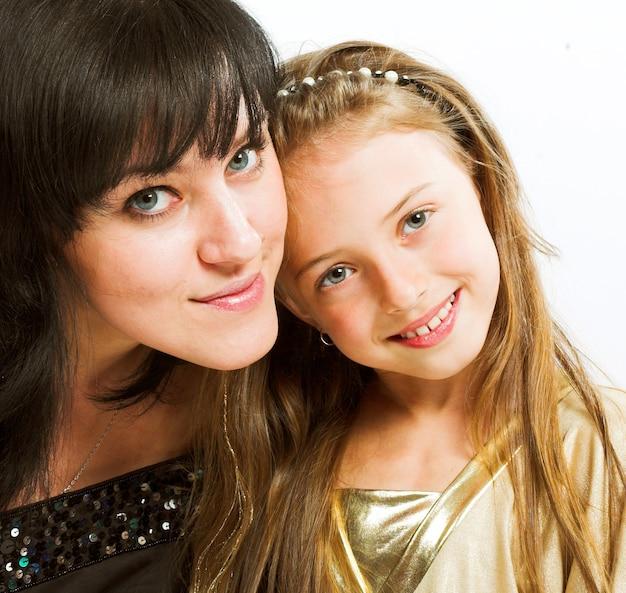 Heureuse mère et sa petite fille