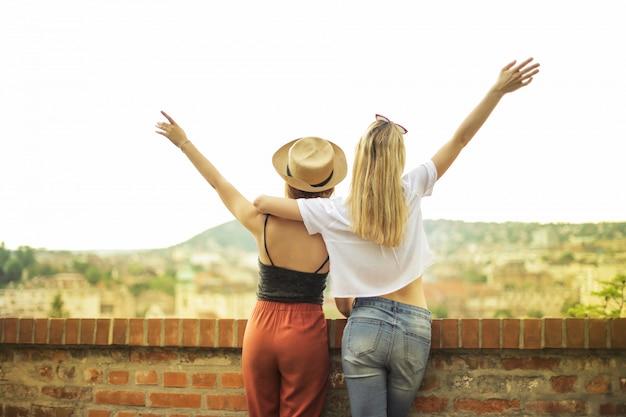 Heureux amis en vacances