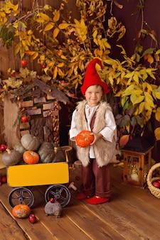 Heureux petit garçon de conte de fées petit gnome