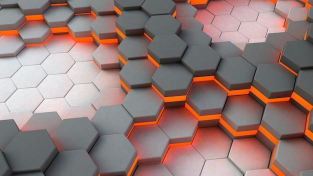 Hexagone abstrait