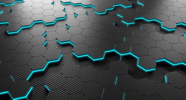 Hexagone en fibre de carbone