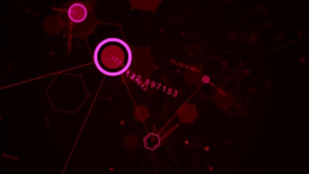Hexagone futuriste abstrait