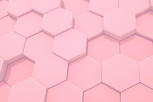Hexagone rose motif abstrait moderne.