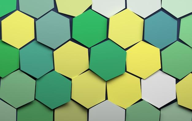 Hexagones verts