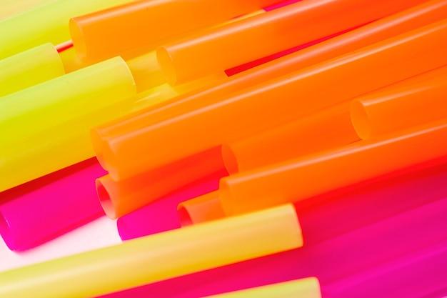 Hgh angle coloré pailles à boire en plastique