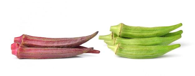 Hibiscus sabdariffa ou fruits de la roselle isolé sur blanc