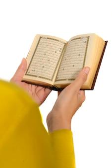 Hijab, femme, lecture, coran