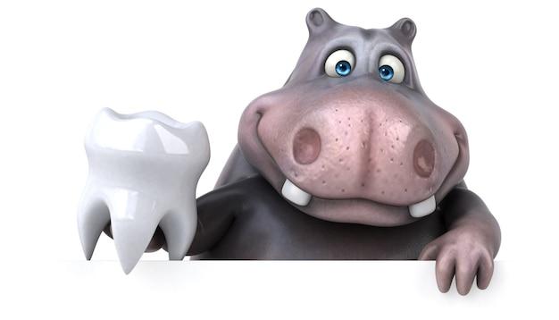Hippopotame amusant