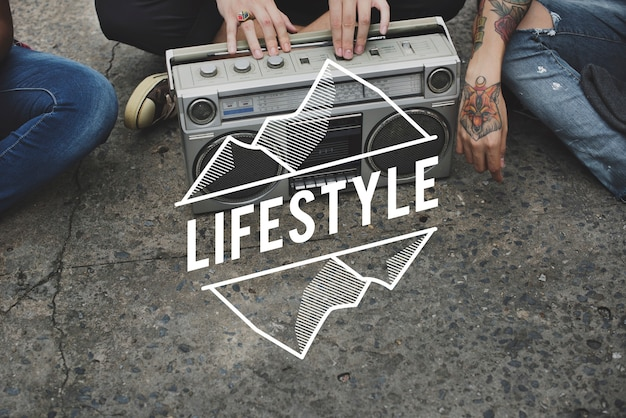 Hipster lifestyle jeunesse culture casual teens