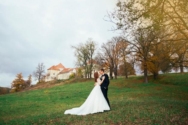 Une histoire d'amour, une promenade dans le château au soleil