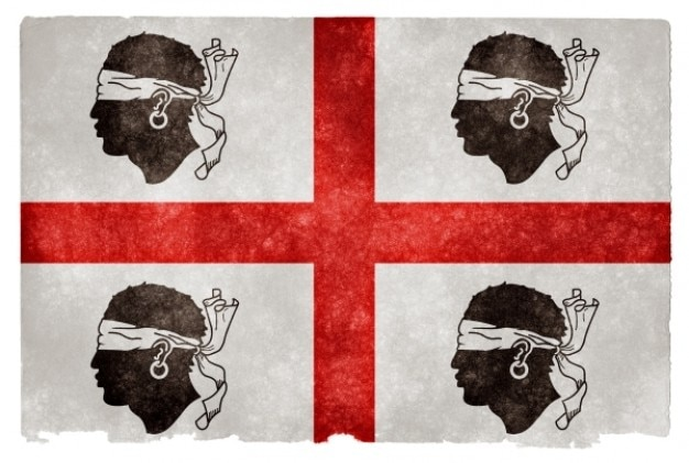 Historique sardaigne grunge flag