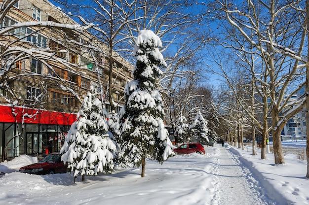 Hiver à chisinau, moldavie