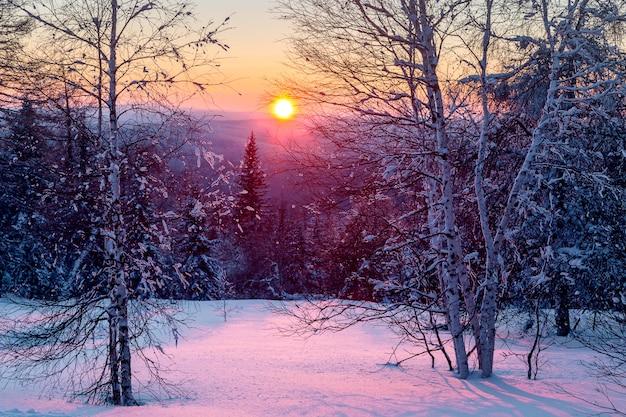 L'hiver dans les montagnes.