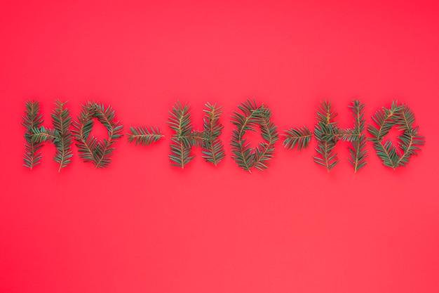 Ho ho ho inscription de branches