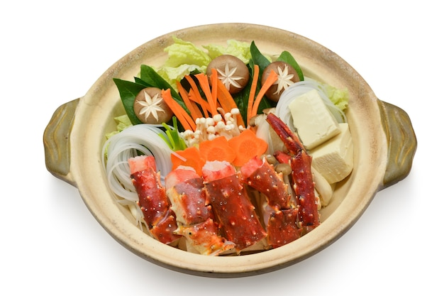 Hokkaido taraba crabe dans un pot chaud