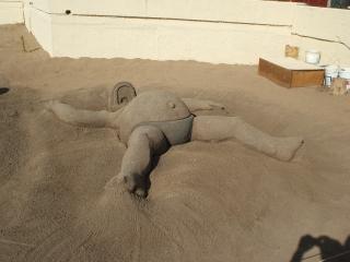 Homero en la playa