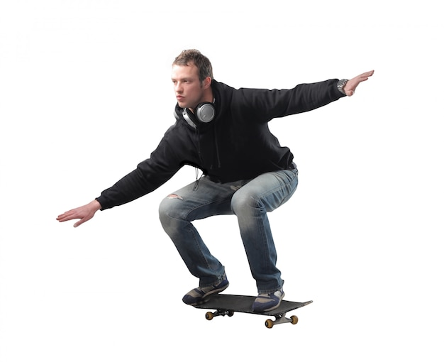 Homme adulte, skateboard