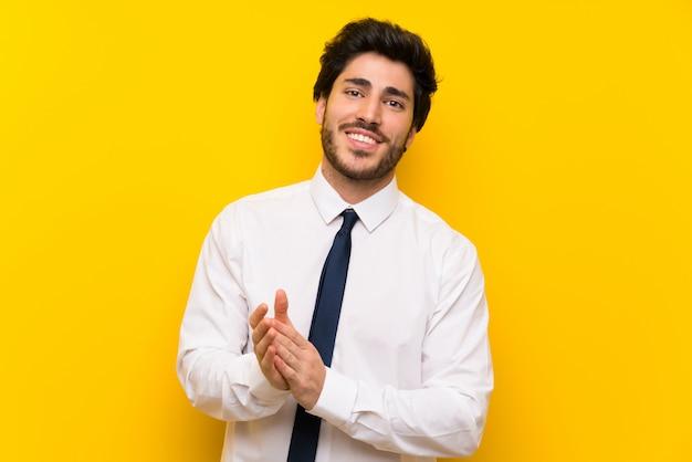 Homme affaires, applaudir
