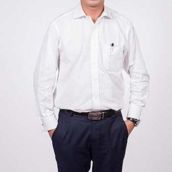 Homme affaires, blanc