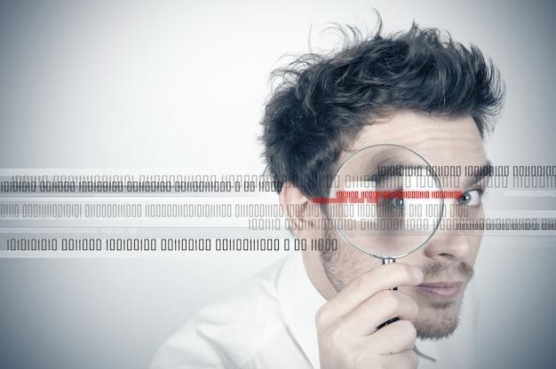 Homme d'affaires cherche le virus