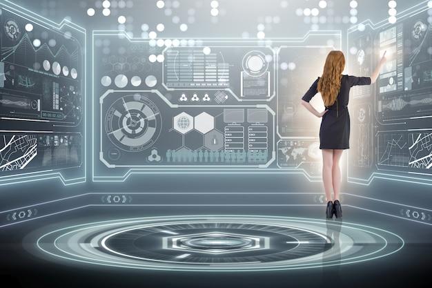 Homme d'affaires dans la gestion des données volumineuses