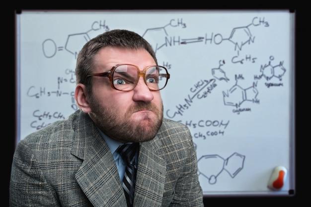 Homme affaires, dans, lunettes
