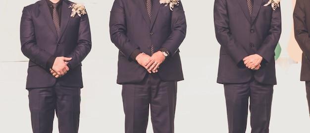 Homme affaires, debout, siminar, scène