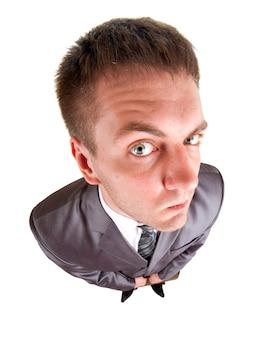 Homme d'affaires inquiet à la recherche de vous
