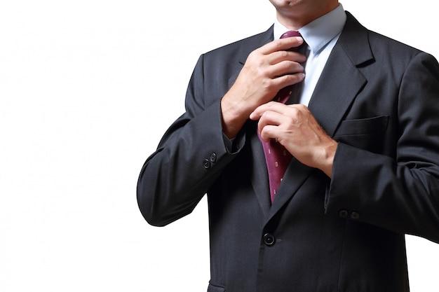 Homme d'affaires isolé sur fond blanc concept pour les entreprises