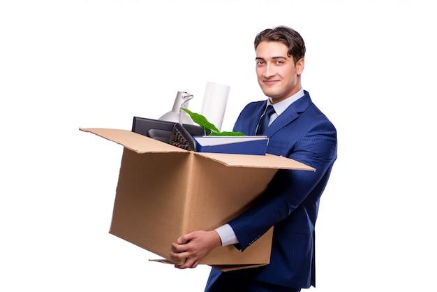 Un homme d'affaires licencié licencié après son licenciement