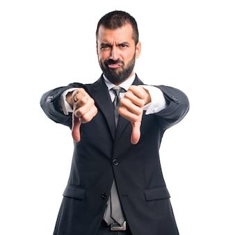 Homme d'affaires, mauvais signal