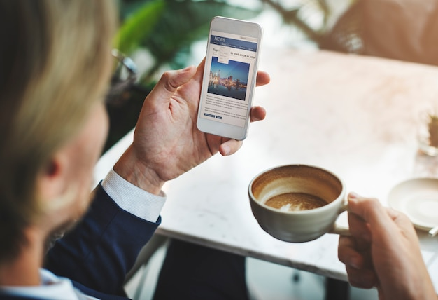 Homme d'affaires se détendre concept de pause-café