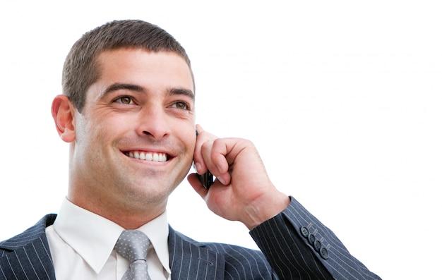 Homme d'affaires sexy sur le téléphone
