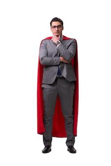 Homme d'affaires de super héros isolé