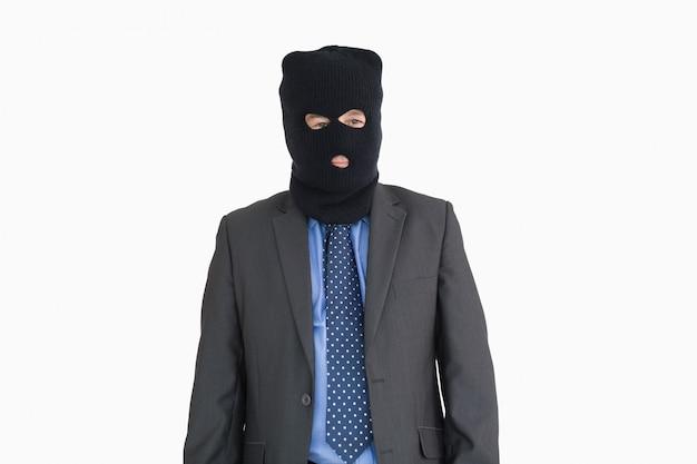 Homme d'affaires en tant que voleur