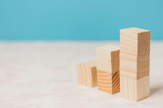 Homme affaires, utilisation, morceaux bois