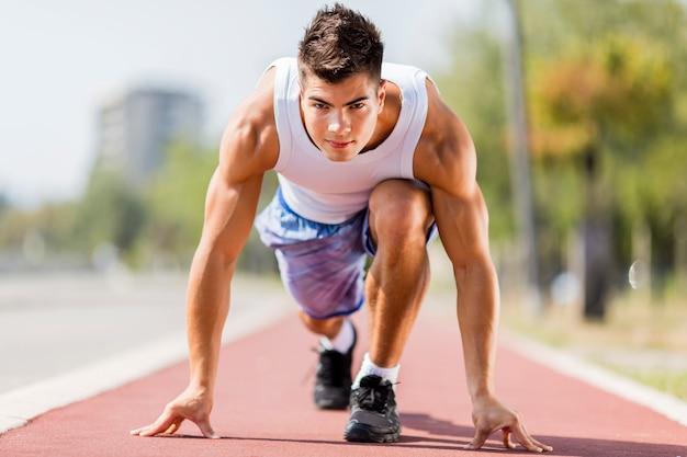 Homme athlétique